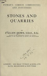 Cover of: Stones and quarries