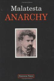 Cover of: Anarchia