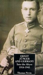 Cover of: Ernst Junger and Germany
