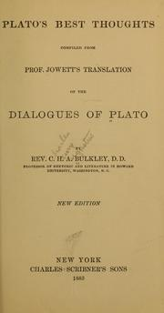 Cover of: Plato's best thoughts