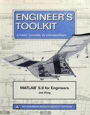 Cover of: MATLAB for engineers | Joe King