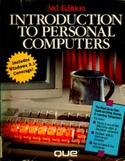 Cover of: Introduction to personal computers