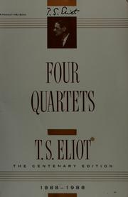 Cover of: Four quartets