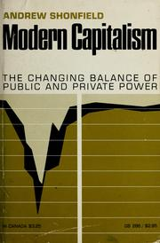 Cover of: Modern capitalism