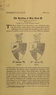 Cover of: The heraldry of Beta theta pi | George Moseley Chandler