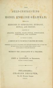 Cover of: The self-instructing model English grammar