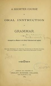 Cover of: A shorter course of oral instruction in grammar