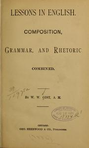Cover of: Lessons in English