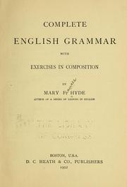 Cover of: Complete English grammar with exercises in composition ...