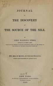 Cover of: Journal of the discovery of the source of the Nile