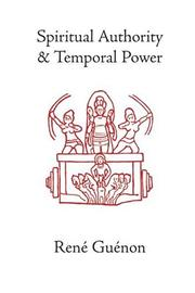 Cover of: Spiritual authority and temporal power