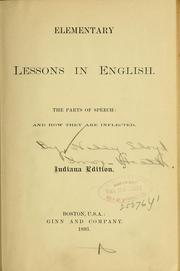 Cover of: Elementary lessons in English