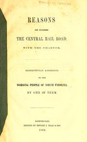 Cover of: Reasons for building the Central Railroad