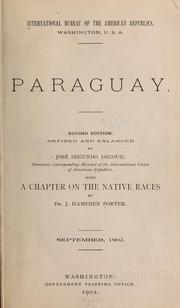 Cover of: Paraguay. | International Bureau of the American Republics.