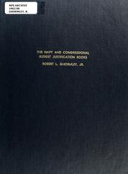 Cover of: The Navy and Congressional budget justification books