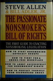 Cover of: The passionate nonsmoker's bill of rights