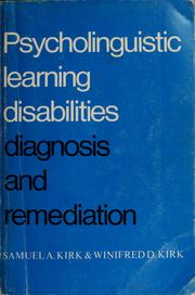 Cover of: Psycholinguistic learning disabilities
