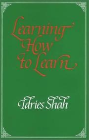 Cover of: Learning How to Learn  | Idries Shah