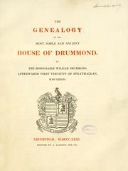 Cover of: The genealogy of the most noble and ancient House of Drummond