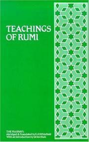 Cover of: Teachings of Rumi: The Masnavi