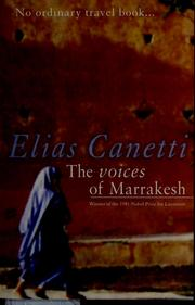 Cover of: The voices of Marrakesh