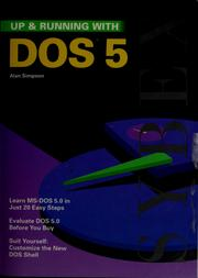 Cover of: Up & running with DOS 5