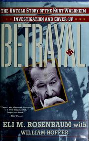 Cover of: Betrayal | Eli M. Rosenbaum