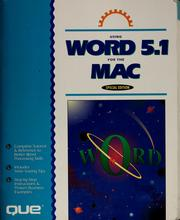 Cover of: Using Word 5.1 for the Mac
