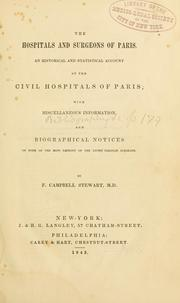 Cover of: The hospitals and surgeons of Paris