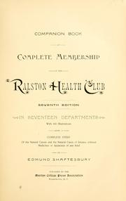 Cover of: Companion book of complete membership in the Ralston Health Club