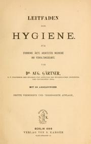 Cover of: Leitfaden der Hygiene