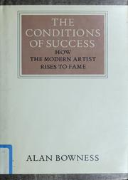 Cover of: The conditions of success | Alan Bowness