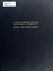 Cover of: The role of standards, codes and specifications in a modern Navy