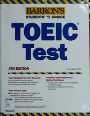 Cover of: Barron's TOEIC