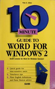 Cover of: 10 minute guide to Word for Windows 2