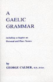 Cover of: A Gaelic grammar