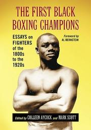 Cover of: The First Black Boxing Champions