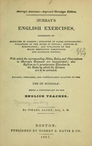 Cover of: Murray's English exercises ...