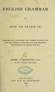 Cover of: English grammar
