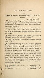 Cover of: Collation of charters, amendments, and consolidations, March 10, 1891