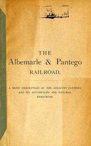Cover of: Albemarle and Pantego Railroad