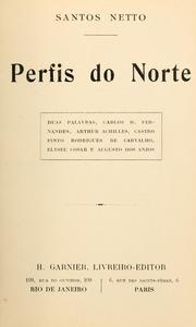 Cover of: Perfis do norte
