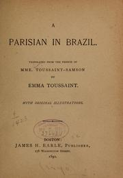 Cover of: A Parisian in Brazil