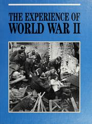 Cover of: The Experience of World War II |