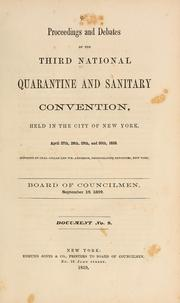 Cover of: Proceedings and debates