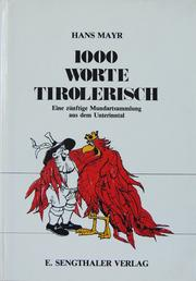 Cover of: 1000 Worte Tirolerisch