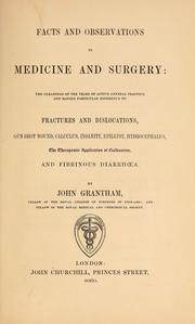 Cover of: Facts and observations in medicine and surgery