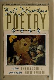 Cover of: The Best American Poetry 1992