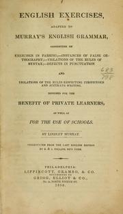 Cover of: English exercises, adapted to Murray's English grammar ...