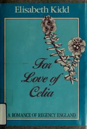Cover of: For love of Celia